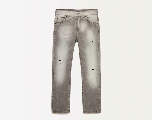 Jeans with tears