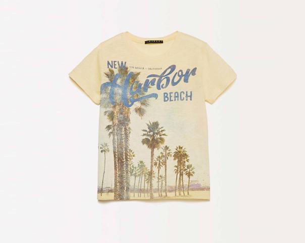 T-shirt with maxi print